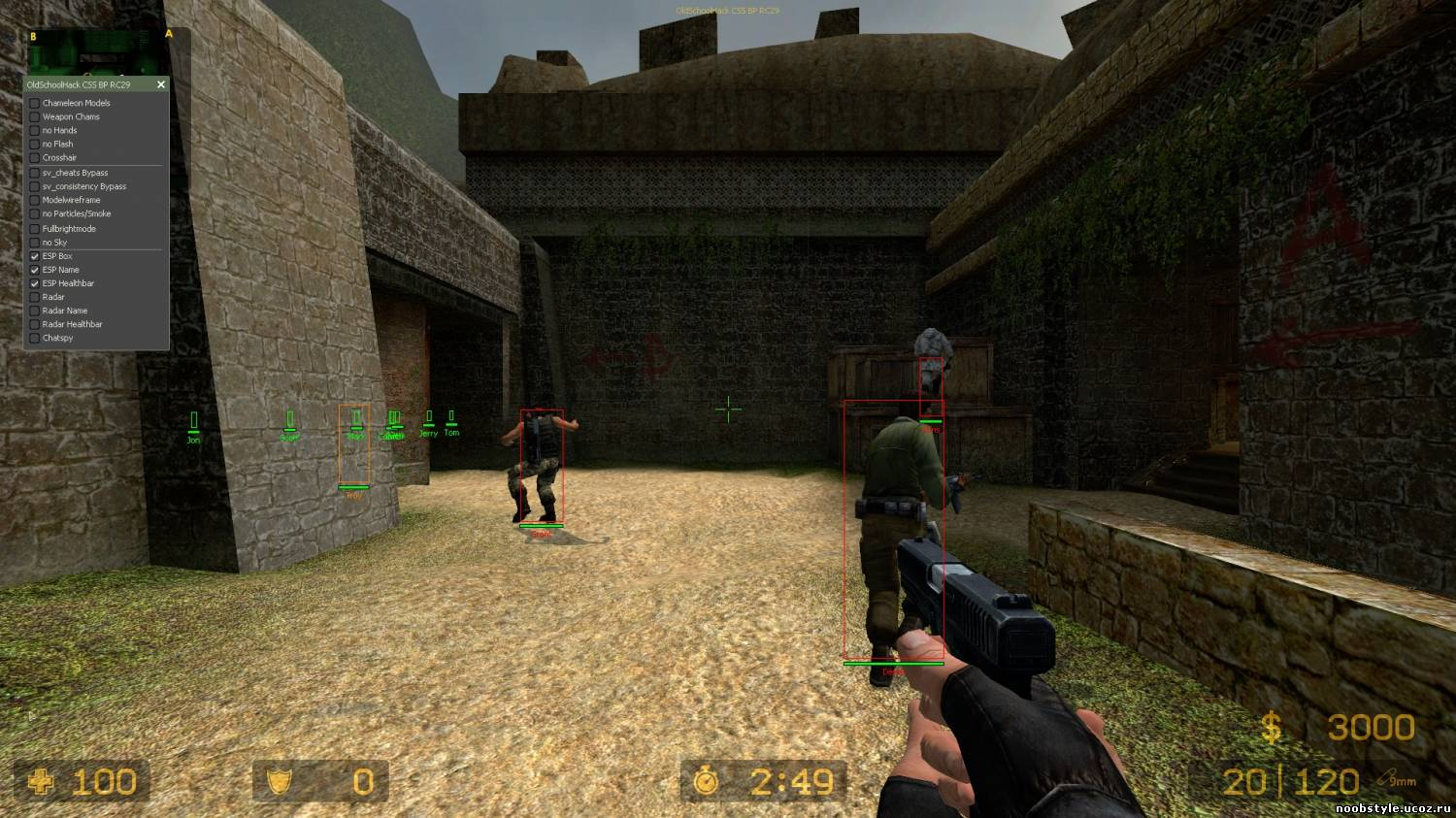 Чит OLD SCHOOL HACK BP для CS: Source v67. counter strike source v67.